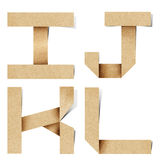 Les lettres d'alphabet d'Origami ont réutilisé le métier de papier Photos libres de droits