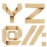 Les lettres d'alphabet d'Origami ont réutilisé le métier de papier Image libre de droits