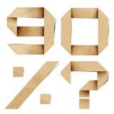 Les lettres d'alphabet d'Origami ont réutilisé le métier de papier Images libres de droits