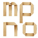 Les lettres d'alphabet d'Origami ont réutilisé le métier de papier Photo stock