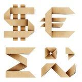 Les lettres d'alphabet d'Origami ont réutilisé le métier de papier Image stock