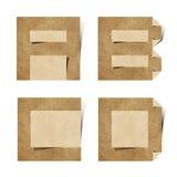 Les lettres d'alphabet d'Origami ont réutilisé le métier de papier Photographie stock libre de droits