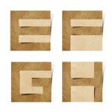 Les lettres d'alphabet d'Origami ont réutilisé le métier de papier Photo libre de droits