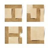 Les lettres d'alphabet d'Origami ont réutilisé le métier de papier Images stock