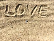 Les lettres d'amour et chante Photos stock