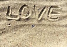Les lettres d'amour et chante Photo stock