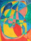 Les lettres dans le massage peint dans l'abstrait Photos stock