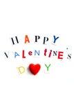 Les lettres de jour heureuses de valentines ont coupé des magazines Photos libres de droits