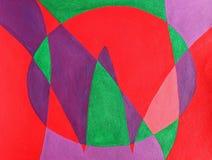 Les lettres dedans MAINTENANT peintes dans l'abstrait Photo libre de droits