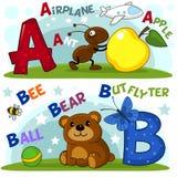 Les lettres a et b Image stock