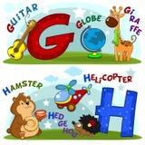 Les lettres g et h Photo stock