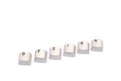 Les lettres rassemblées des boutons de clavier numérique d'ordinateur conçoivent d'isolement Photos stock