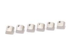 Les lettres rassemblées des boutons de clavier numérique d'ordinateur conçoivent d'isolement Image stock