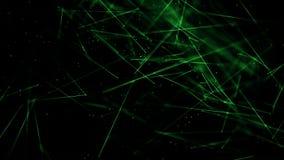 Les lignes abstraites rougeoient avec la profondeur du vert de champ illustration stock