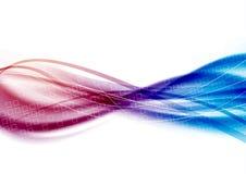 Les lignes de bruissement de satin coulent - les vagues roses bleues Photos stock