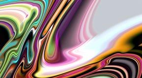 Les lignes douces molles vives brouillées par résumé, lignes vives de vagues, contrastent le fond abstrait image stock