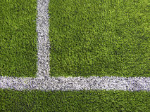 Les lignes du terrain de football Photos stock