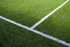 Les lignes du terrain de football Photo libre de droits