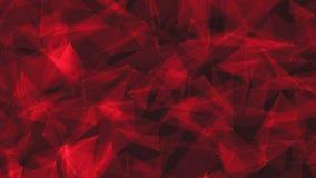 Les lignes et l'animation futuriste 3d de fond d'abrégé sur plexus de réseau de technologie de points rendent illustration libre de droits