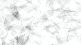 Les lignes et l'animation futuriste 3d de fond d'abrégé sur plexus de réseau de technologie de points rendent illustration de vecteur
