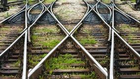 Les lignes ferroviaires photo libre de droits