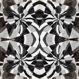 Les lignes grises vagues et places soustraient l'illustration géométrique de vecteur de fond Photo libre de droits