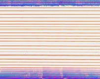 Les lignes irrégulières horizontales de couleur et du pourpre rouge-oranges ont coloré des rayures à partir du dessus et du bas d image libre de droits