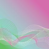 Les lignes onduleuses Background_Warm colore 1 Photo stock