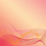 Les lignes onduleuses Background_Warm colore 1 Photos libres de droits