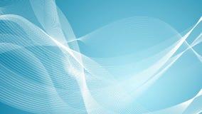Les lignes onduleuses bleues et blanches abstraites font signe la conception illustration stock