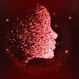 Les lignes se sont reliées aux penseurs, symbolisant la signification de l'intelligence artificielle illustration libre de droits