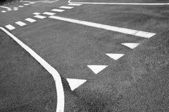 Les lignes sur la route Photos libres de droits