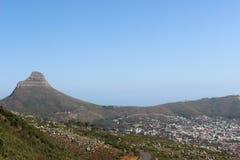 Les lions dirigent la montagne dans le parc national de montagne de table de Cape Town Afrique du Sud photos stock