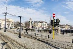 Les lions jettent un pont sur à Sofia Image libre de droits