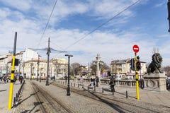Les lions jettent un pont sur à Sofia Images stock
