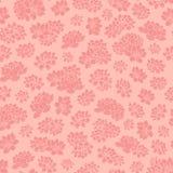 Les lis tirés par la main colorés de rose de vecteur silhouette le modèle sans couture Illustration Stock