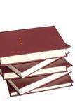 les livres de fond ont isolé le blanc Images stock