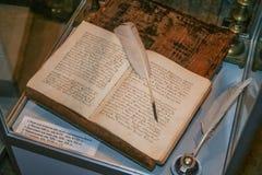 Les livres de manuscrit du XVIIème siècle Photographie stock