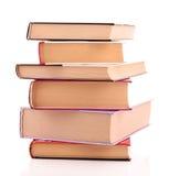 Les livres durs de cache ont isolé Photographie stock