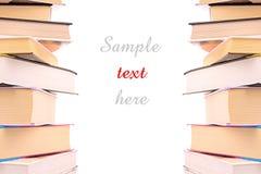 Les livres durs de cache ont isolé Image stock