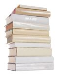 les livres empilent le blanc Image stock