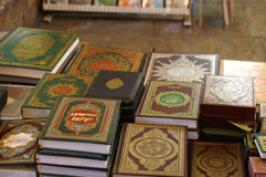 Les livres nobles de Qur'an (koran) images stock