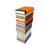 les livres ont coloré la pile Photographie stock