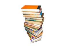 les livres ont coloré la pile Image stock