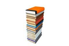 les livres ont coloré la pile Photos stock