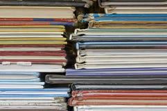 Les livres ont empilé la haute Photographie stock libre de droits