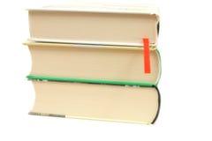 Les livres ont isolé Photos stock