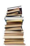 les livres ont isolé la pile Image libre de droits