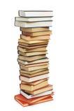 les livres ont isolé la pile Photographie stock