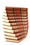 les livres ont isolé le vieux blanc Photos stock